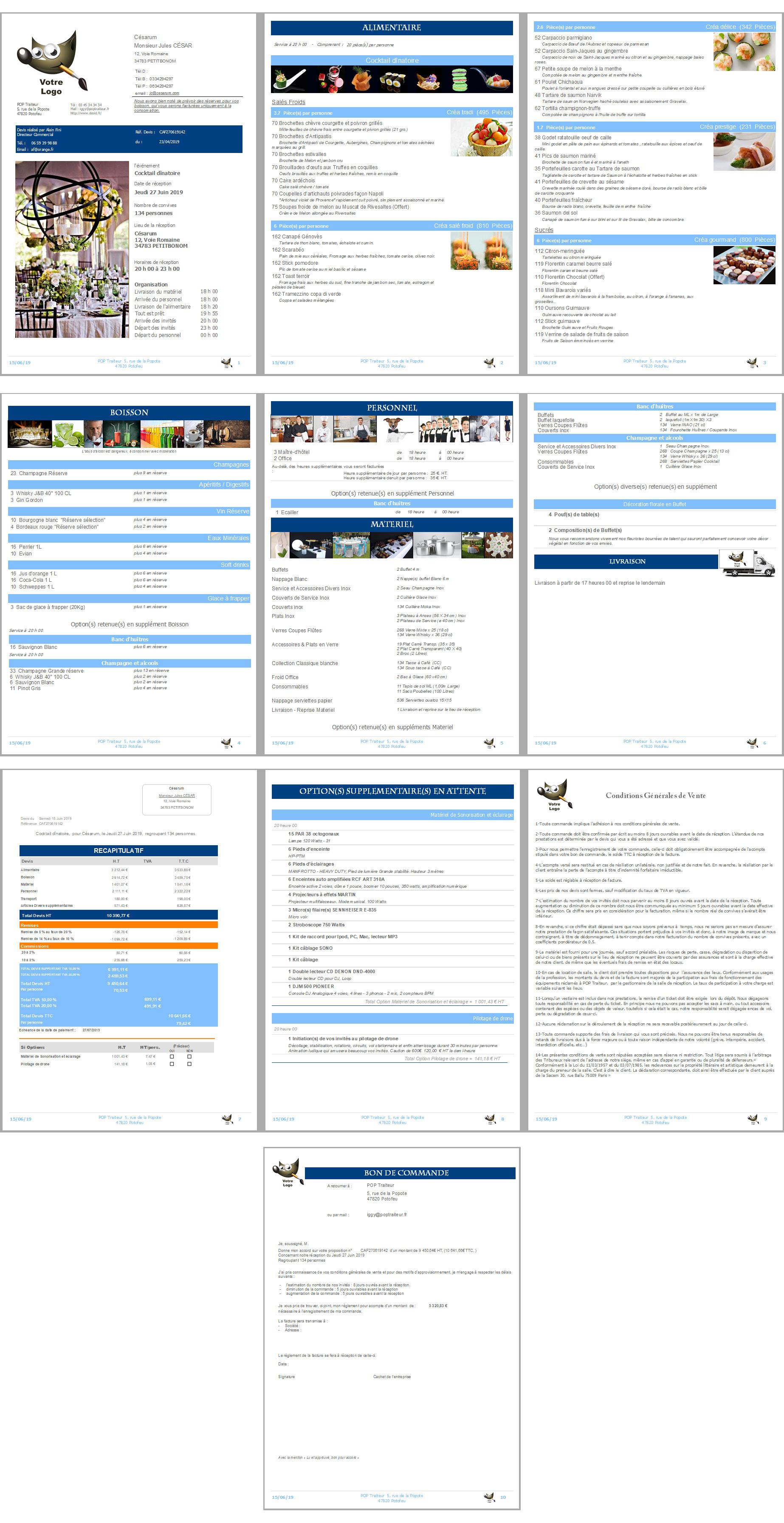 Voir devis standard (PDF) réalisé avec SMTO en moins de 4 minutes